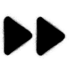 fast forward media graffiti spray icon in black vector image