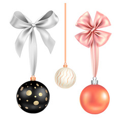 festive balls set-02 vector image