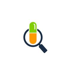 Find medicine logo icon design vector
