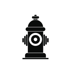 Fire hydrant black simple icon vector
