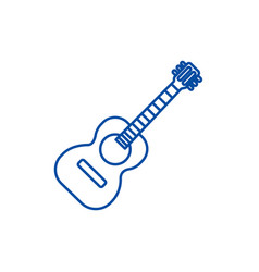 flamenco guitar line icon concept vector image