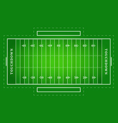 flat green american football field top view of vector image