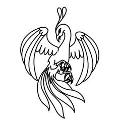 flat linear phoenix vector image