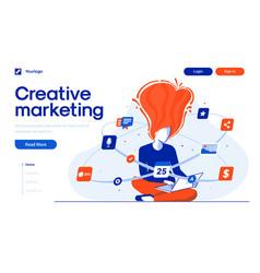 Flat modern design creative marketing vector