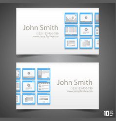 flat windows frame calling card vector image