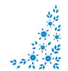 floral corner border vector image