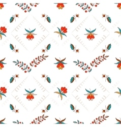 Floral ornament in hungarian style vector