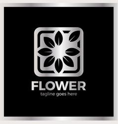 Flower frame logo vector