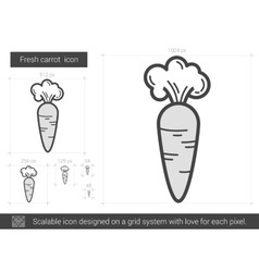 Fresh carrot line icon vector