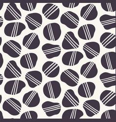Geometric striped pebble seamless pattern hand vector