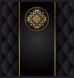 Gold black background design sun indian vector