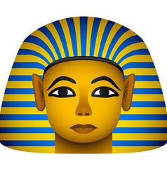 Golden mask of the egyptian pharaoh vector