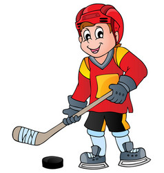 hockey theme image 1 vector image