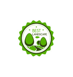 icon of green trees for best landscape vector image