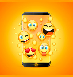 Icons for emoji from the phone vector