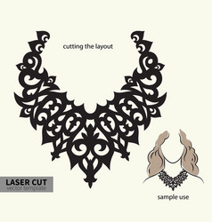 Laser cutting necklace vector