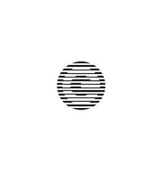 letter e on circle logo design concept vector image