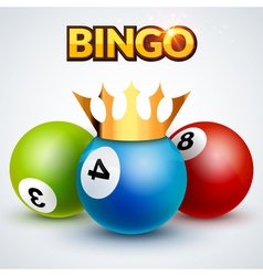 Lottery bingo jackpot design template poster Bingo vector image