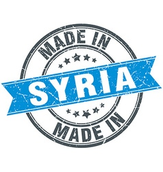 Made in Syria blue round vintage stamp vector