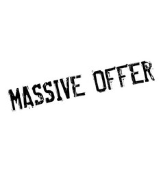 Massive offer rubber stamp vector
