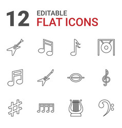 Melody icons vector