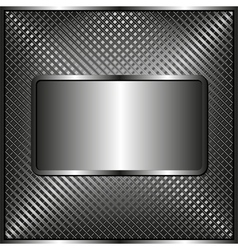 metallic plaque vector image vector image