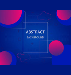 modern gradient background with geometric shapes vector image