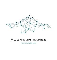 Mountain Range graphic logo logo template vector image vector image