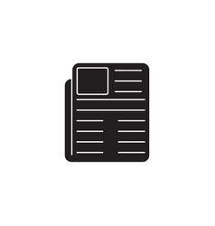 news solid icon newspaper advert social media vector image