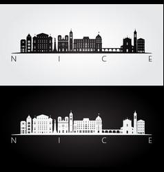 nice skyline and landmarks silhouette vector image