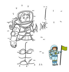 numbers game astronaut vector image
