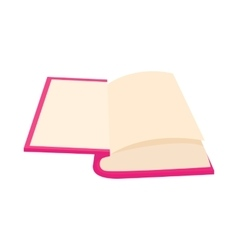 Opened book icon in cartoon style vector