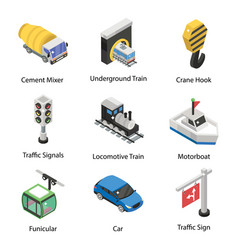 Pack transportation in isometric style vector