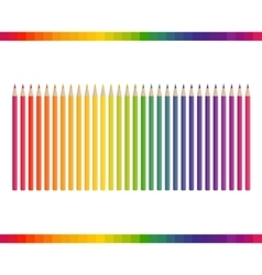 Pencil different colors vector