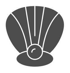 Perl in a shell solid icon clam vector