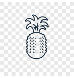 Pineapple concept linear icon isolated on vector