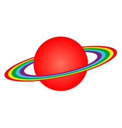 Planet saturn with rings vector