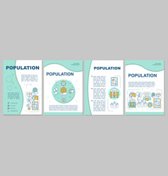 Population brochure template demographic problem vector