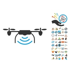 Radio Transmitter Airdrone Icon With 2017 Year vector