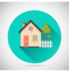 Real Estate Symbol House Building Private Property vector image