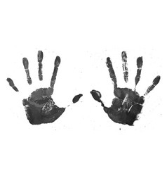 realistic grunge style high detail handprint vector image