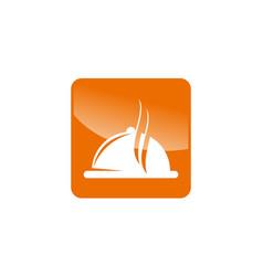 Restaurant icon logo design template vector