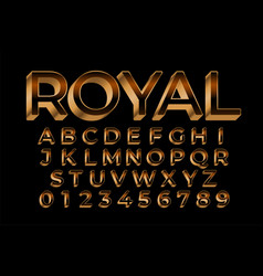 Royal golden premium text effect in 3d style vector