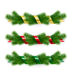 set christmas garlands vector image