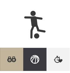 Set of 4 editable healthy icons includes symbols vector