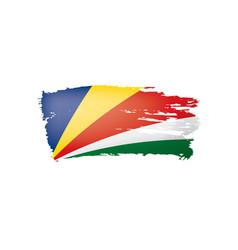 Seychelles flag on a white vector