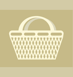 Shopping bag basket container carry products item vector