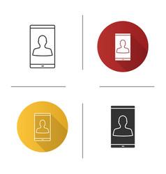 smartphone user icon vector image