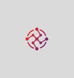 Social media network biotechnology molecule atom vector