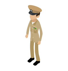 soldier profession icon isometric 3d style vector image